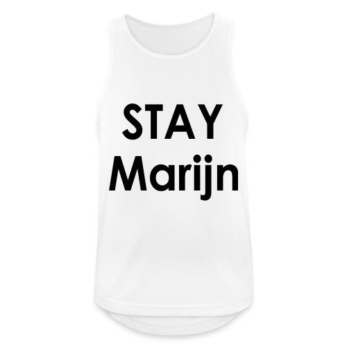 stay marijn black - Mannen tanktop ademend actief