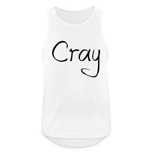 Cray Black Schrifft - Männer Tank Top atmungsaktiv