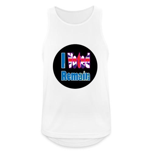 I Voted Remain badge EU Brexit referendum - Men's Breathable Tank Top