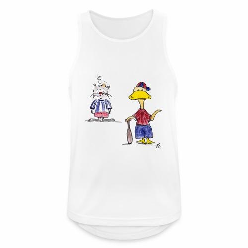 Cartoon Baseball - Männer Tank Top atmungsaktiv