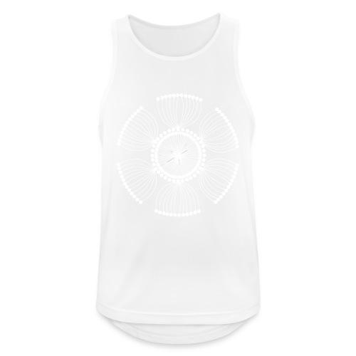 White Poppy Seed Mandala II - Men's Breathable Tank Top