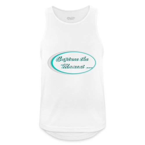 Logo capture the moment photography slogan - Men's Breathable Tank Top