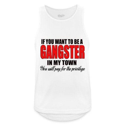 ville gangster - Débardeur respirant Homme