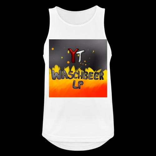 Waschbeer Design 2# Mit Flammen - Männer Tank Top atmungsaktiv