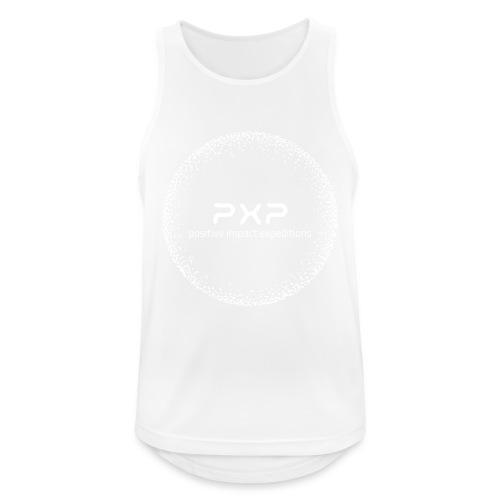 white logo transparent 2x - Men's Breathable Tank Top