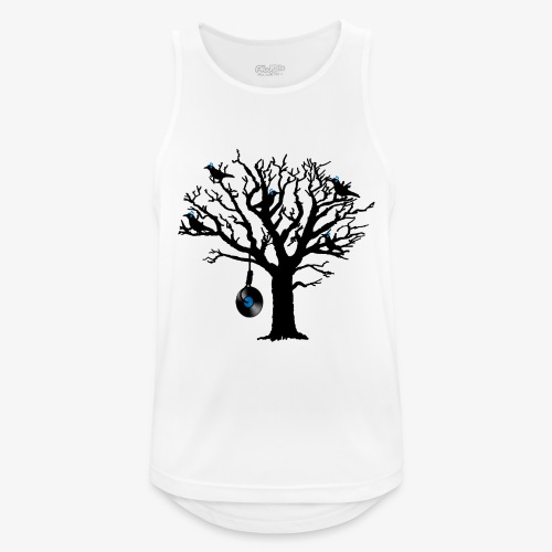 Musical Birds in Tree 2 blau Hangman Vinyl - Männer Tank Top atmungsaktiv