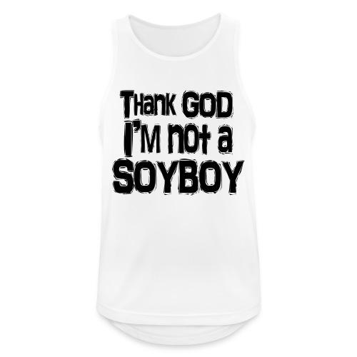 Thank God I'm NOT A SOYBOY Black - Men's Breathable Tank Top