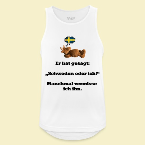Schweden oder ich - Männer Tank Top atmungsaktiv