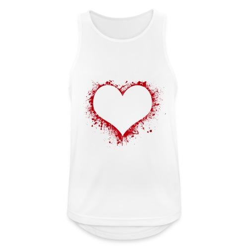 Herz/Heart - Männer Tank Top atmungsaktiv