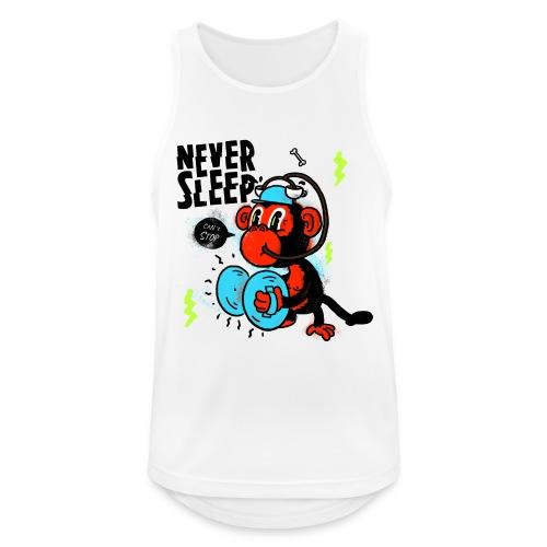 Never Sleep Monkey - Männer Tank Top atmungsaktiv