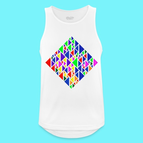 A square school of triangular coloured fish - Men's Breathable Tank Top
