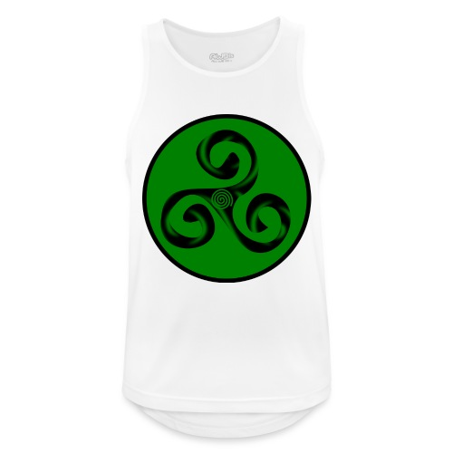 Triskel and Spiral - Camiseta sin mangas hombre transpirable
