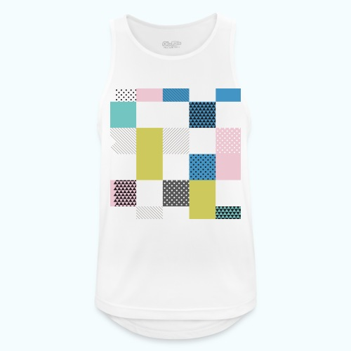 Abstract art squares - Men's Breathable Tank Top