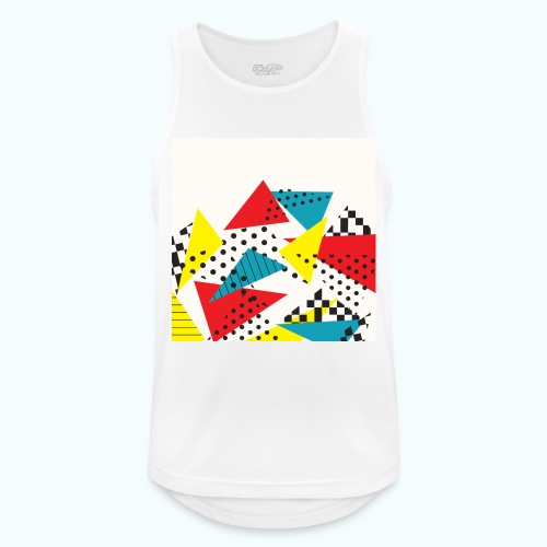 Abstract vintage collage - Men's Breathable Tank Top