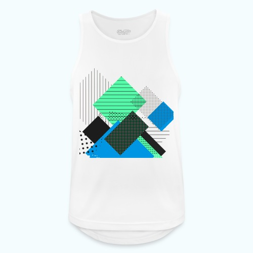 Abstract rectangles pastel - Men's Breathable Tank Top