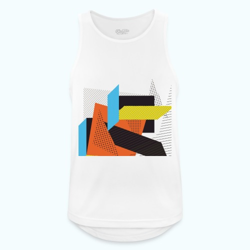 Vintage shapes abstract - Men's Breathable Tank Top