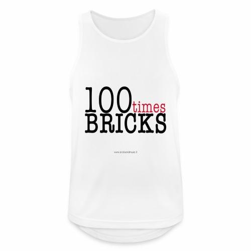 100times BRICKS - Canotta da uomo traspirante