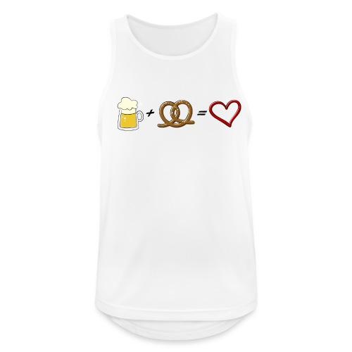 pretzel + beer = love - Men's Breathable Tank Top