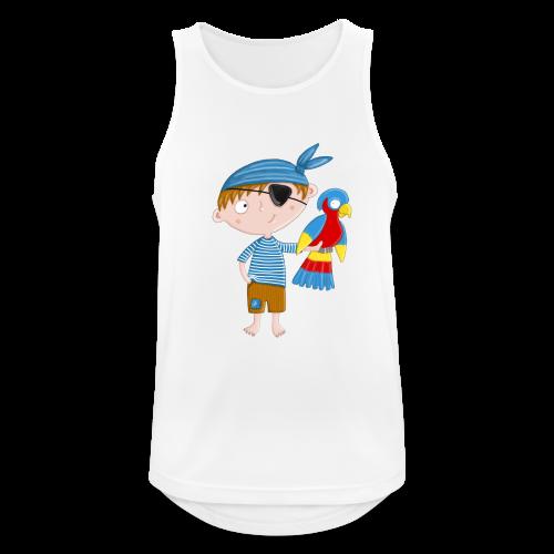 Kleiner Pirat mit Papagei - Männer Tank Top atmungsaktiv