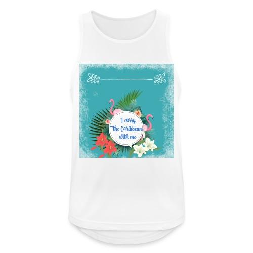 The caribean inside - Camiseta sin mangas hombre transpirable