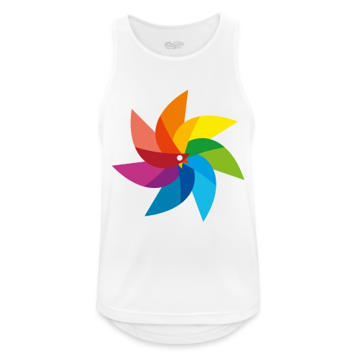 bunte Windmühle Kinderspielzeug Regenbogen Sommer - Men's Breathable Tank Top