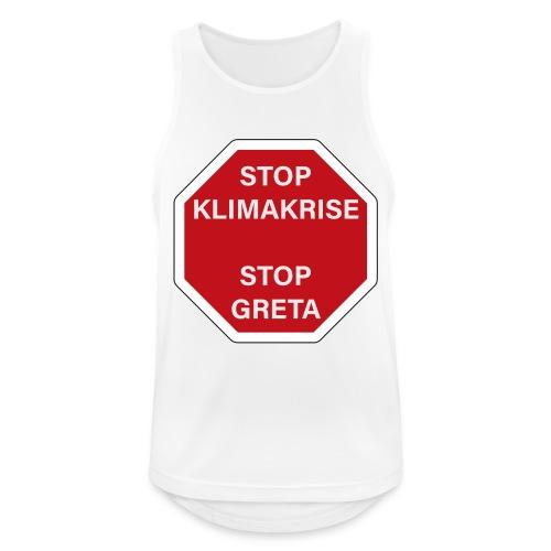 STOP GReTA - Männer Tank Top atmungsaktiv