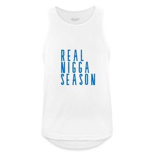 real nigga season blauw - Mannen tanktop ademend actief