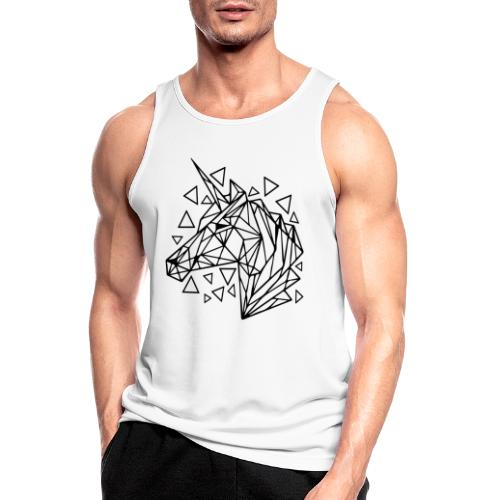 unicornio minimalista - Camiseta sin mangas hombre transpirable