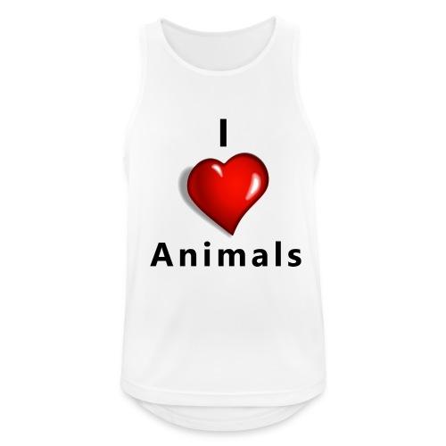 i love animals - Mannen tanktop ademend actief