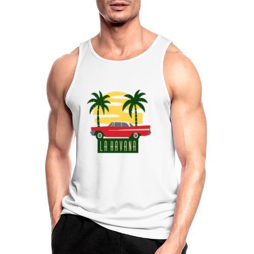 La Havana Vintage - Männer Tank Top atmungsaktiv