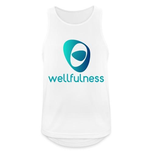 Wellfulness Sport Clasic - Camiseta sin mangas hombre transpirable