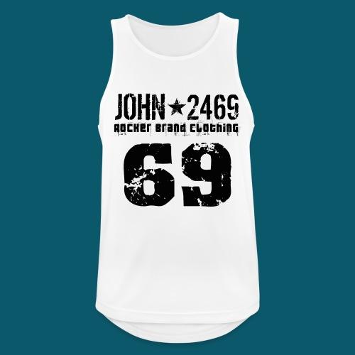 john 2469 numero trasp per spread nero PNG - Canotta da uomo traspirante