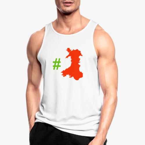 Hashtag Wales - Men's Breathable Tank Top