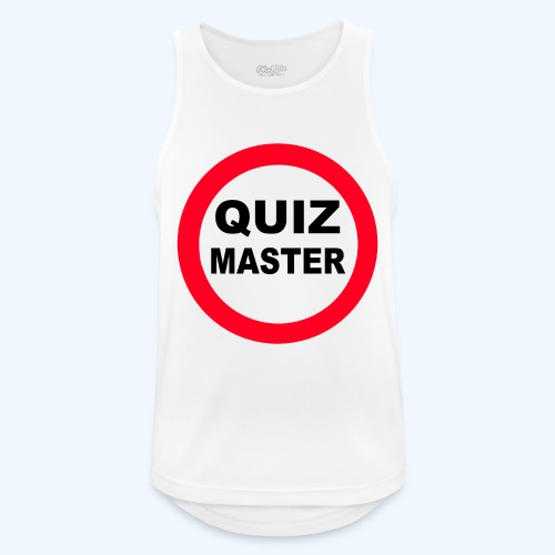 Quiz Master Stop Sign - Men's Breathable Tank Top