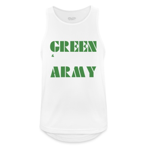 GREEN & WHITE ARMY - Men's Breathable Tank Top