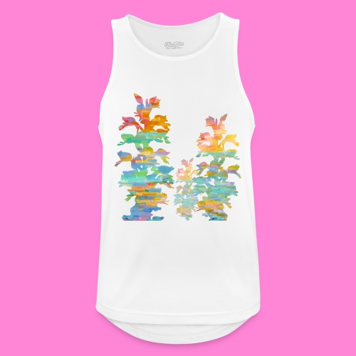 Orchid painting - Mannen tanktop ademend