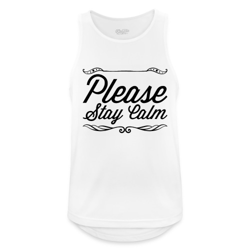 Please Stay Calm - Men's Breathable Tank Top