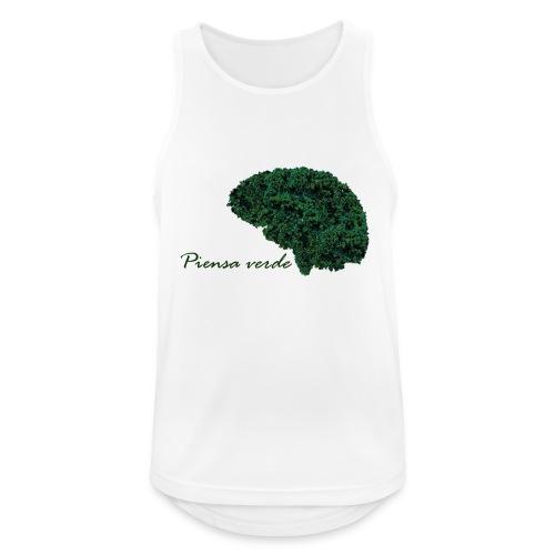 Piensa verde - Camiseta sin mangas hombre transpirable