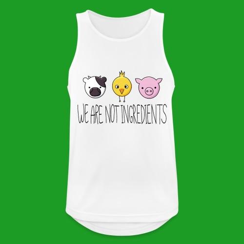 Vegan - We are not ingredients - Débardeur respirant Homme