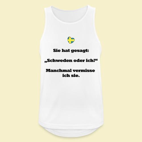 T-Shirt Schweden Herz schwarz für ihn - Männer Tank Top atmungsaktiv