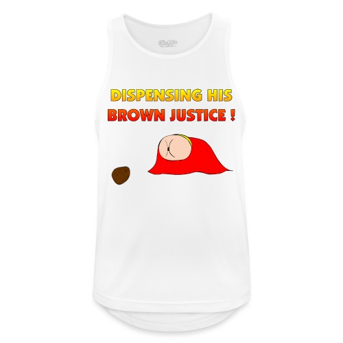 Flying Bum (diagonal) - with text - Men's Breathable Tank Top