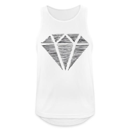 Diamante - Camiseta sin mangas hombre transpirable