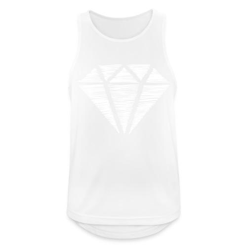 Diamante blanco - Camiseta sin mangas hombre transpirable