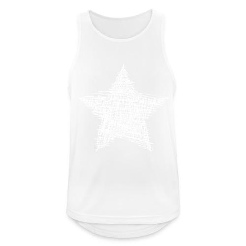 Estrella blanca - Camiseta sin mangas hombre transpirable
