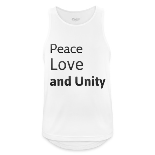 peace love and unity - Men's Breathable Tank Top