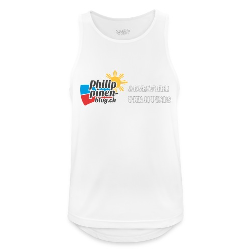 Philippinen-Blog Logo english schwarz/weiss - Männer Tank Top atmungsaktiv