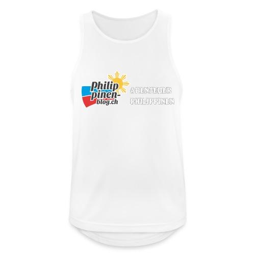 Philippinen-Blog Logo deutsch schwarz/weiss - Männer Tank Top atmungsaktiv