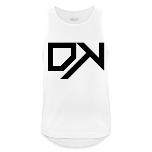 DewKee Logo Cap Black - Men's Breathable Tank Top