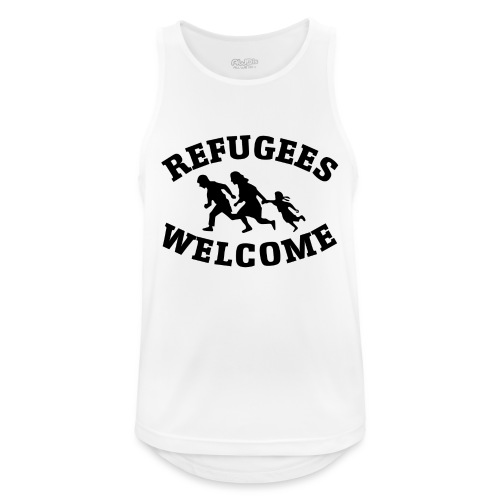 Refugees Welcome - Débardeur respirant Homme