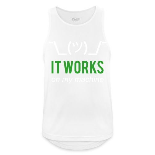 It works on my machine Funny Developer Design - Men's Breathable Tank Top